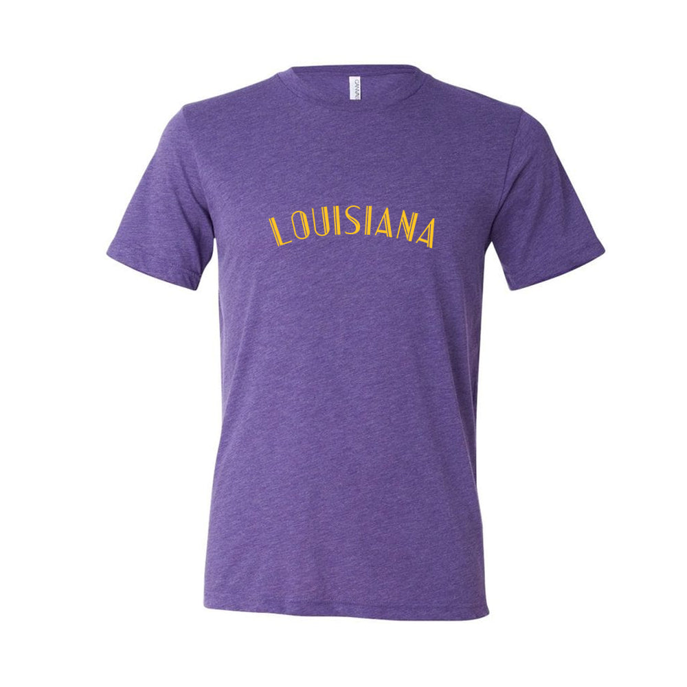 Louisiana Purple Triblend Tee