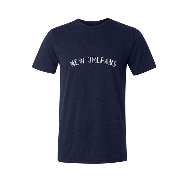 New Orleans Navy Triblend Tee