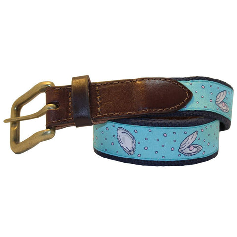 Caribbean Blue Gulf Oyster Club Belt