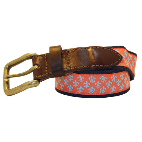 Étouffée Orange Mini Fleur de Lis Club Belt