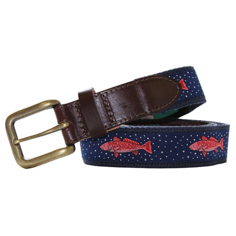 Midnight Navy Gulf Redfish Club Belt
