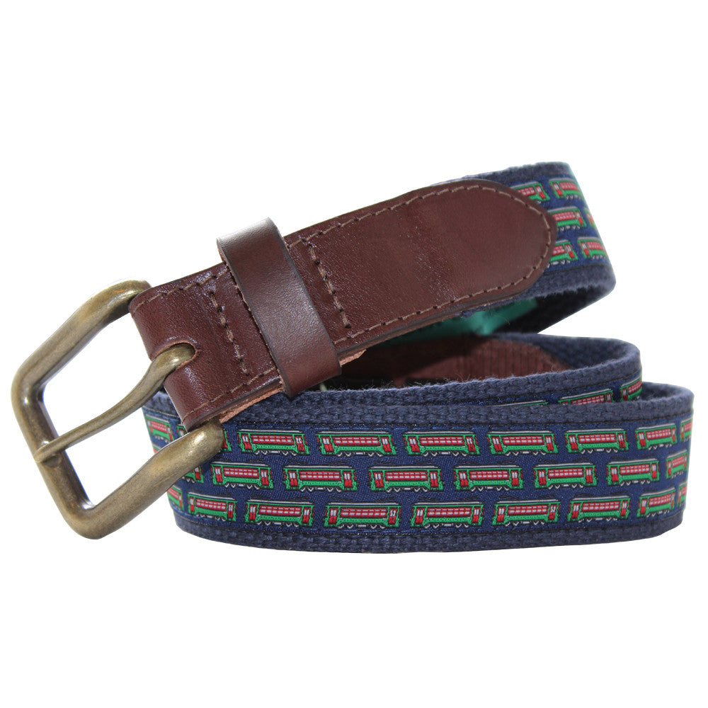 Midnight Navy Streetcar Club Belt