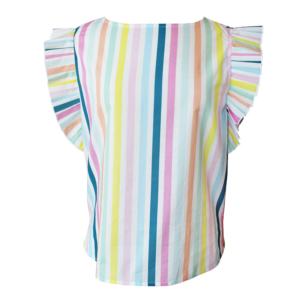 Rainbow Accordion Blouse