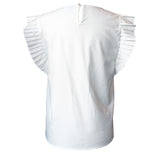 White Accordion Blouse