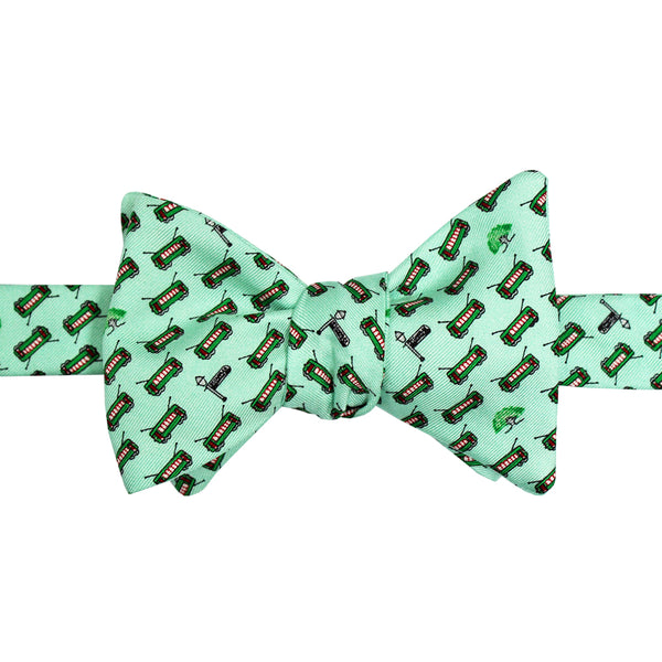 Mint Green Boys' Streetcar Bow Tie