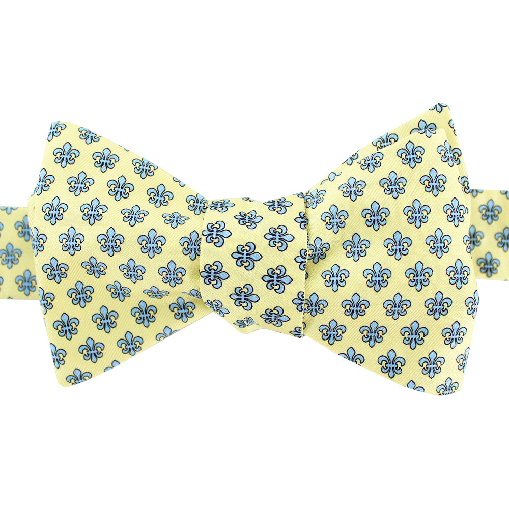 King Cake Yellow Boys' Fleur de Lis Bow Tie