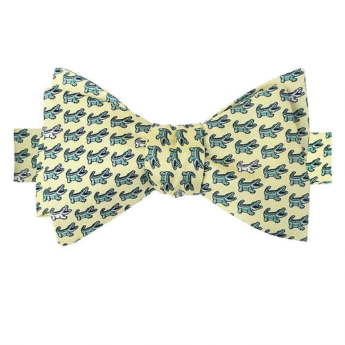King Cake Yellow Boys' NOLAgator Bow Tie