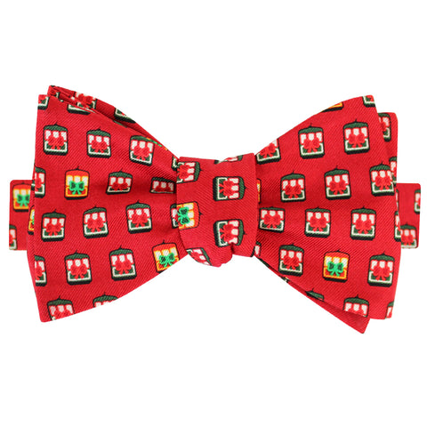 Cayenne Red Christmas Streetcar Bow Tie