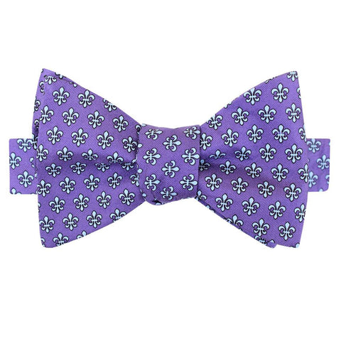 Regal Purple Boys' Fleur de Lis Bow Tie