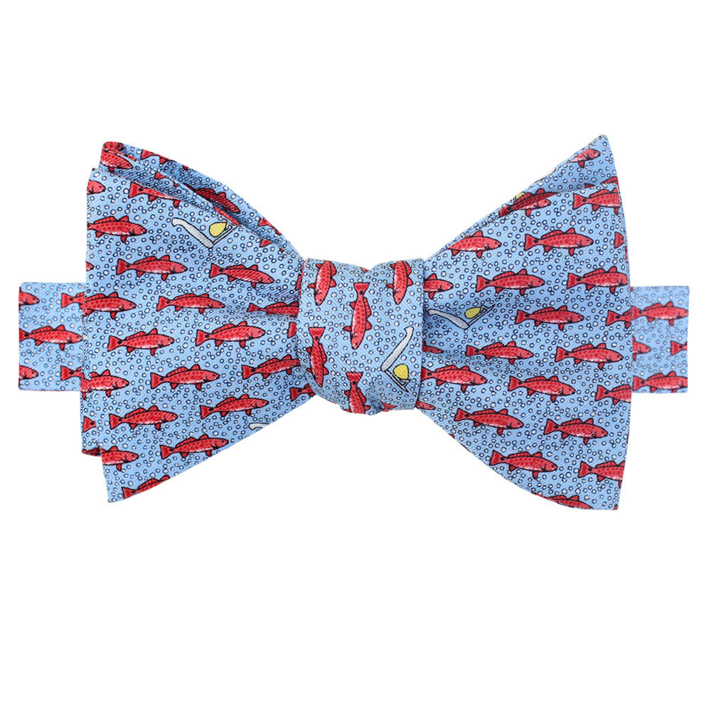 Gulf Blue Gulf Red Fish Bow Tie