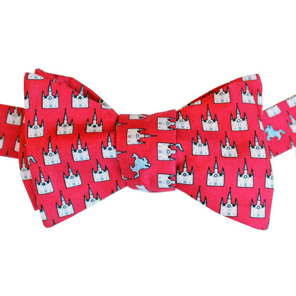 Cayenne Red Jackson Square Bow Tie