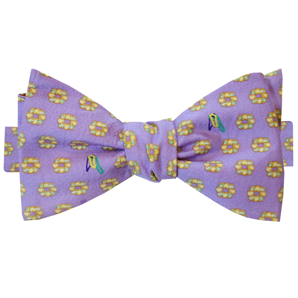 Ash Wednesday Lavender King Cake Bow Tie