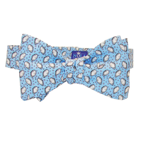 Gulf Blue Mini Gulf Oysters Bow Tie