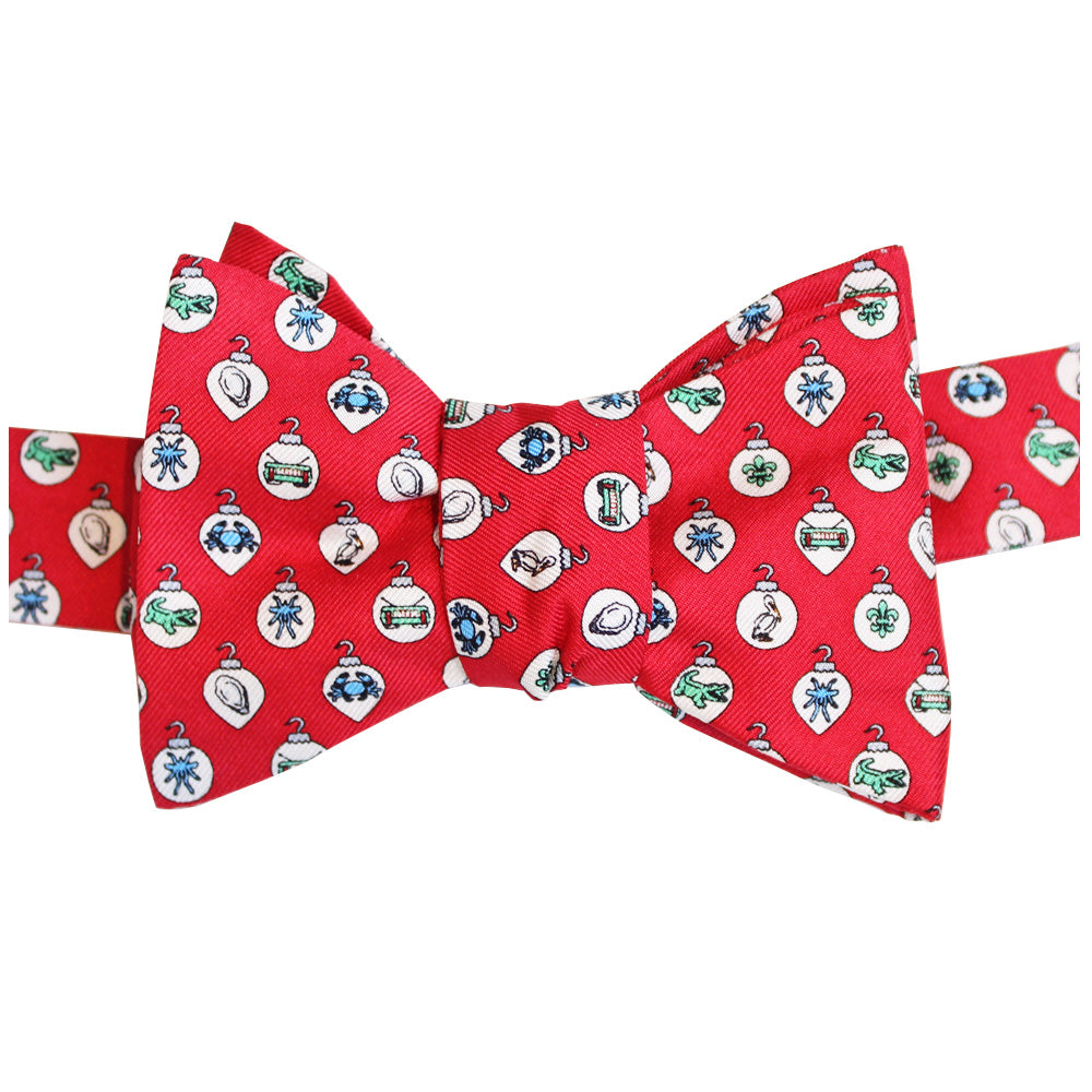 Cayenne Red Boys' Christmas Ornaments Bow Tie
