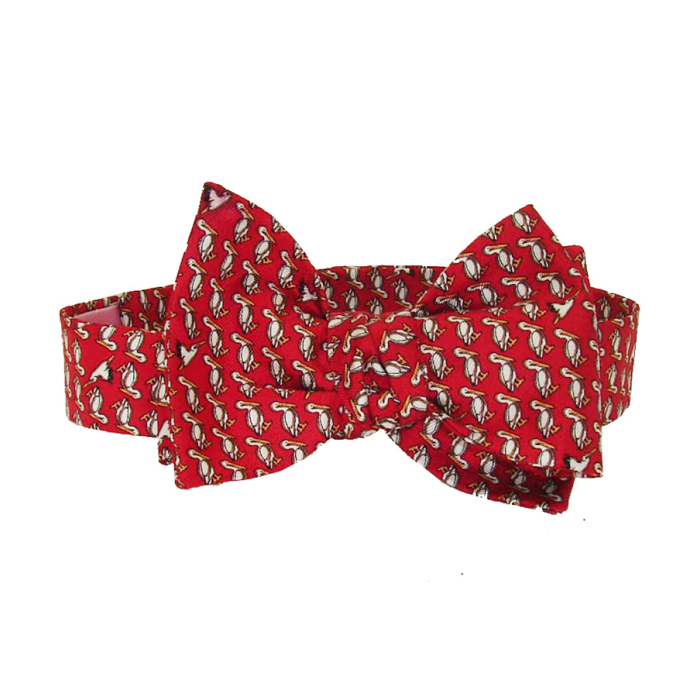 Cayenne Red Pelican Bow Tie