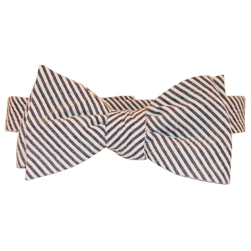 Black Seersucker Bow Tie