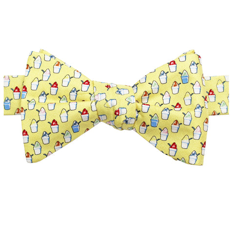 King Cake Yellow Boys' Snoball Bow Tie