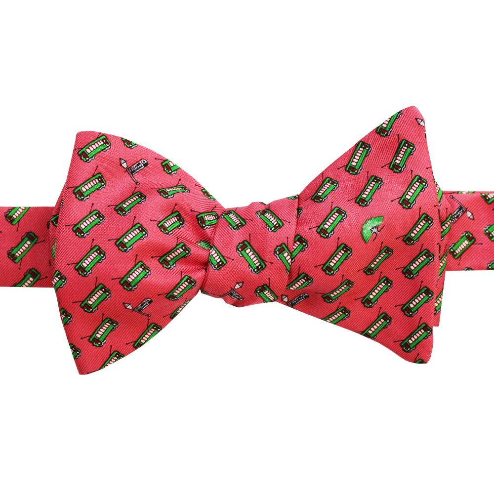 Raspberry Red Streetcar Bow Tie