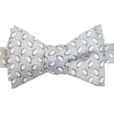 Beach Beige Mini Gulf Oysters Bow Tie