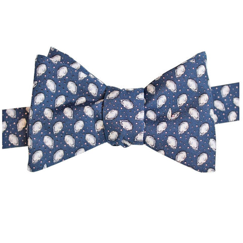 Midnight Navy Mini Gulf Oysters Bow Tie