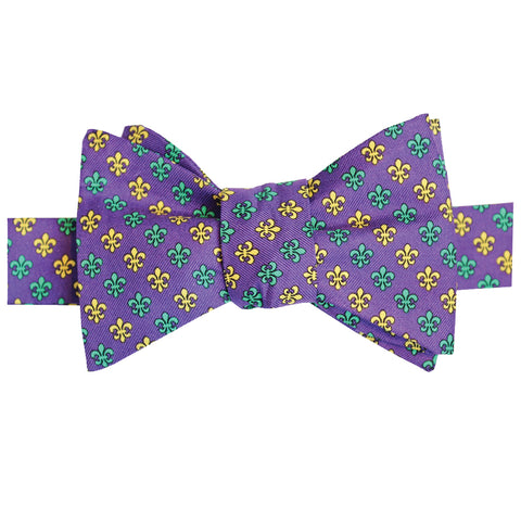 Regal Purple Multi Fleur de Lis Bow Tie