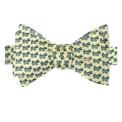 King Cake Yellow NOLAgator Bow Tie