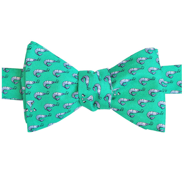 Audubon Green Shrimp Cocktail Bow Tie