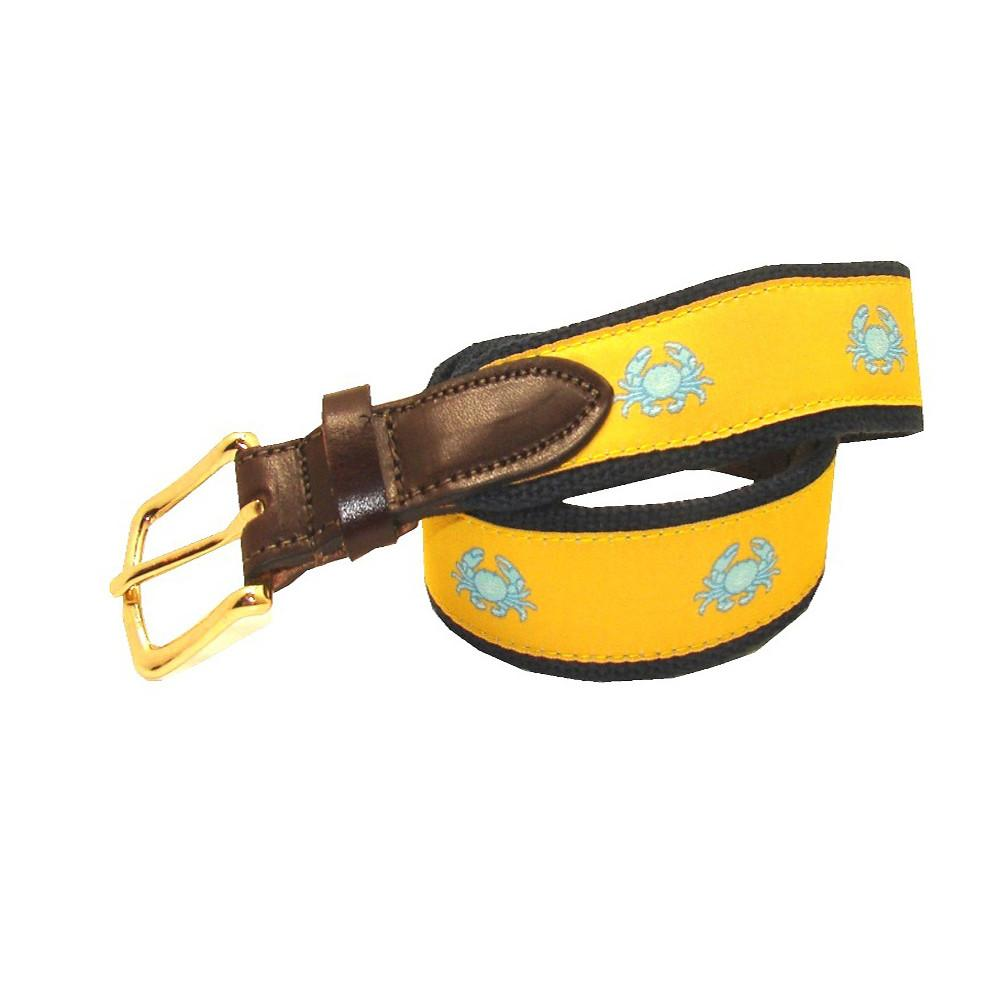 Sunshine Yellow Boys' Boiled Crab Club Belt
