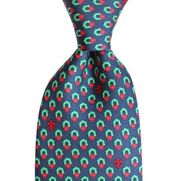 Boys' Christmas Wreath Tie