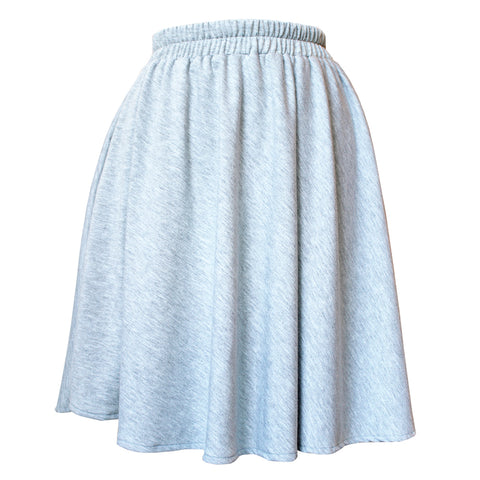 Gray Knit Circle Skirt
