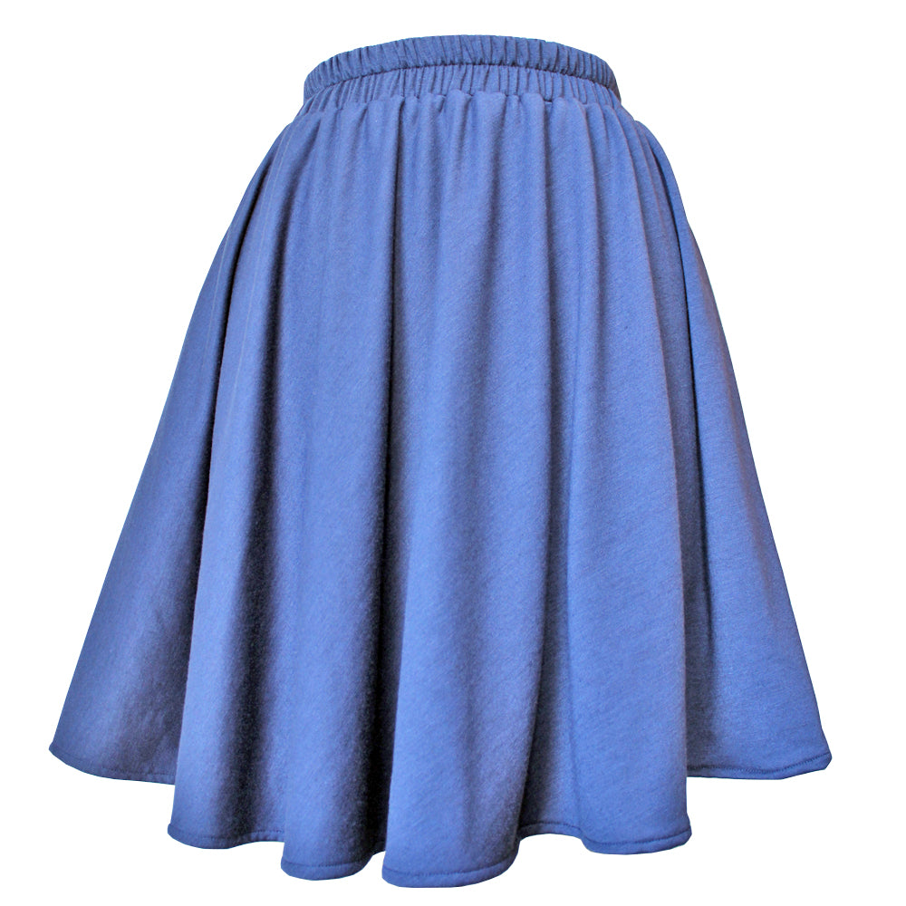 Navy Knit Circle Skirt
