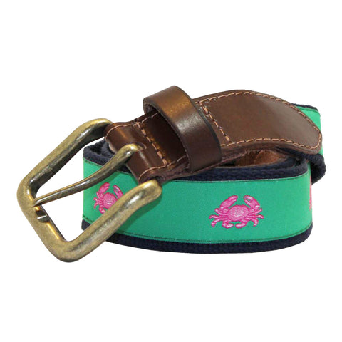 Audubon Green Boiled Crab Club Belt