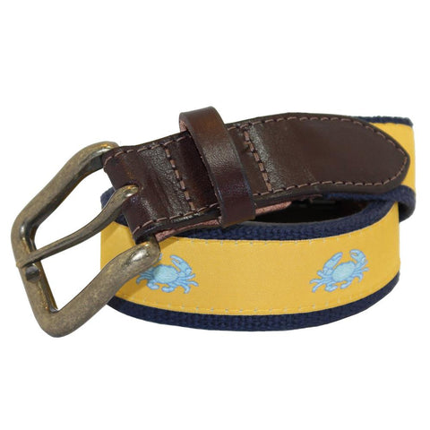 Sunshine Yellow Boiled Crab Club Belt