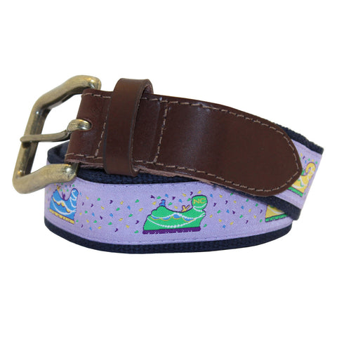 Ash Wednesday Lavender Mardi Gras Floats Club Belt
