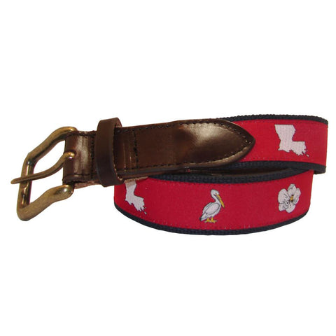 Cayenne Red Louisiana Club Belt