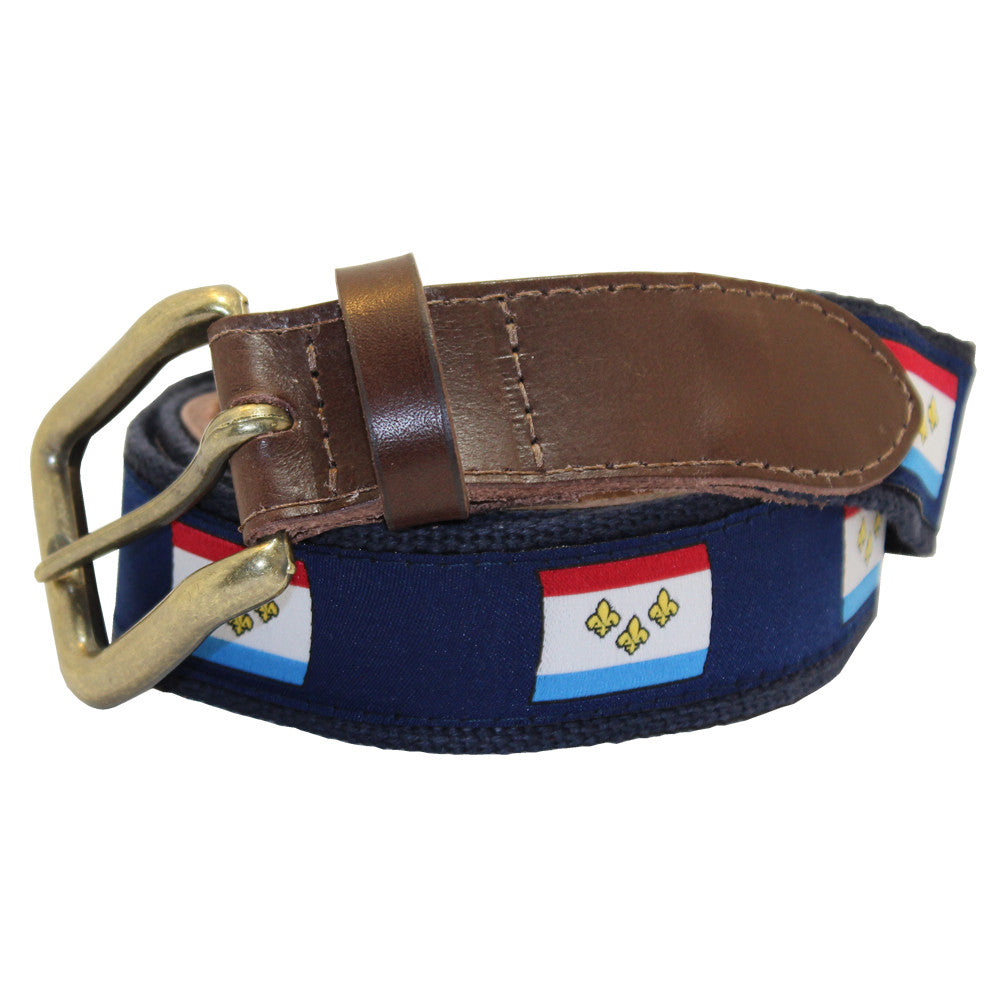 New Orleans Flag Club Belt