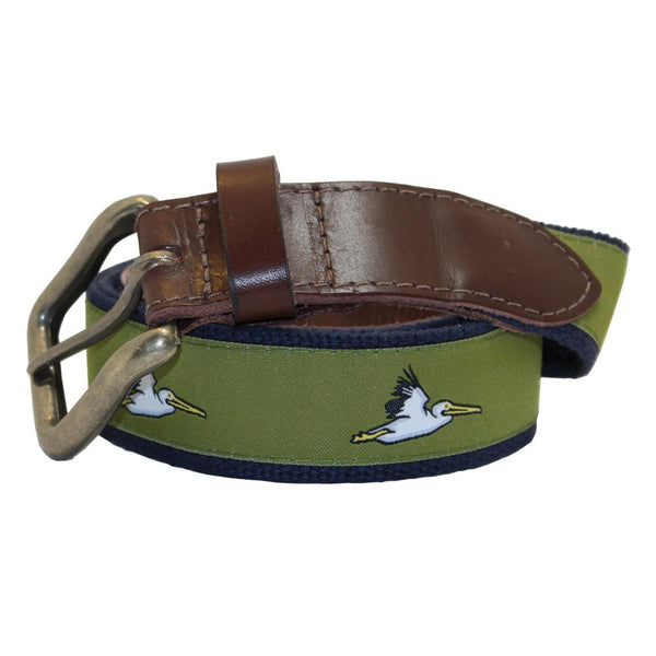 Mossy Green Pelican Club Belt