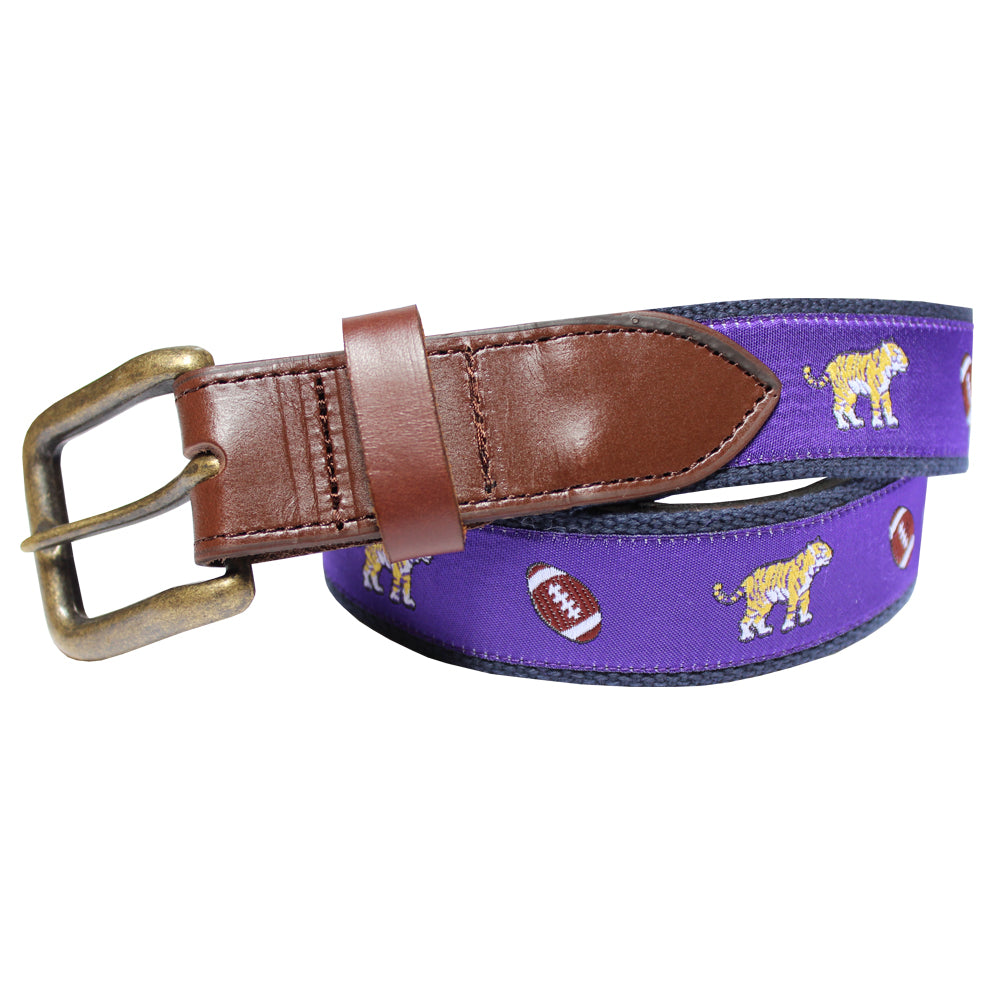 Regal Purple Tiger & Football Club Belt