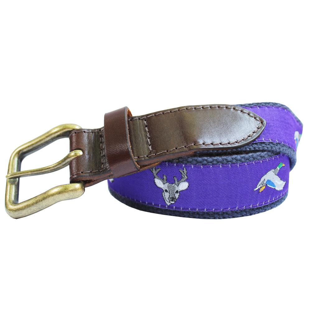 Regal Purple Ducks and Bucks Club Belt
