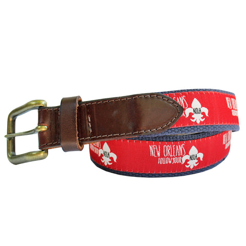 Cayenne Red Follow Your NOLA Club Belt