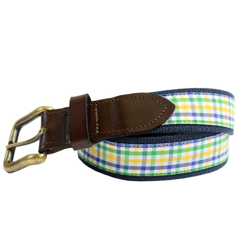 Mardi Gras Mambo Gingham Club Belt