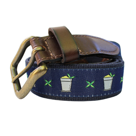 Midnight Navy Mint Julep Club Belt