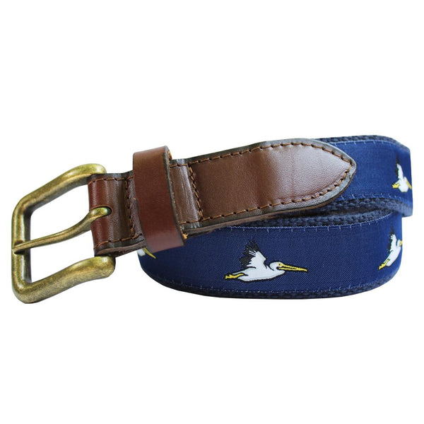 Midnight Navy Pelican Club Belt