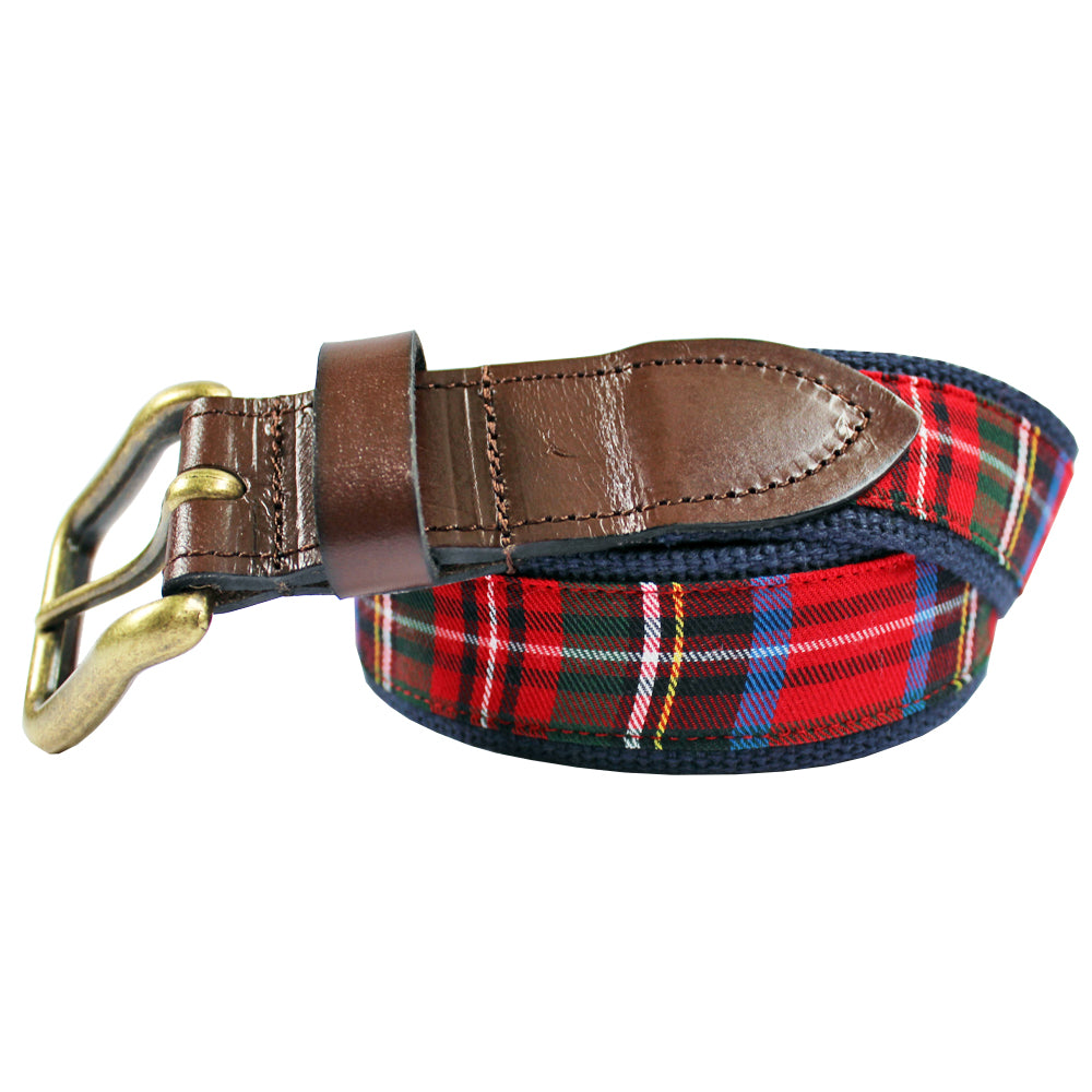Red House of Wales Plaid Club Belt