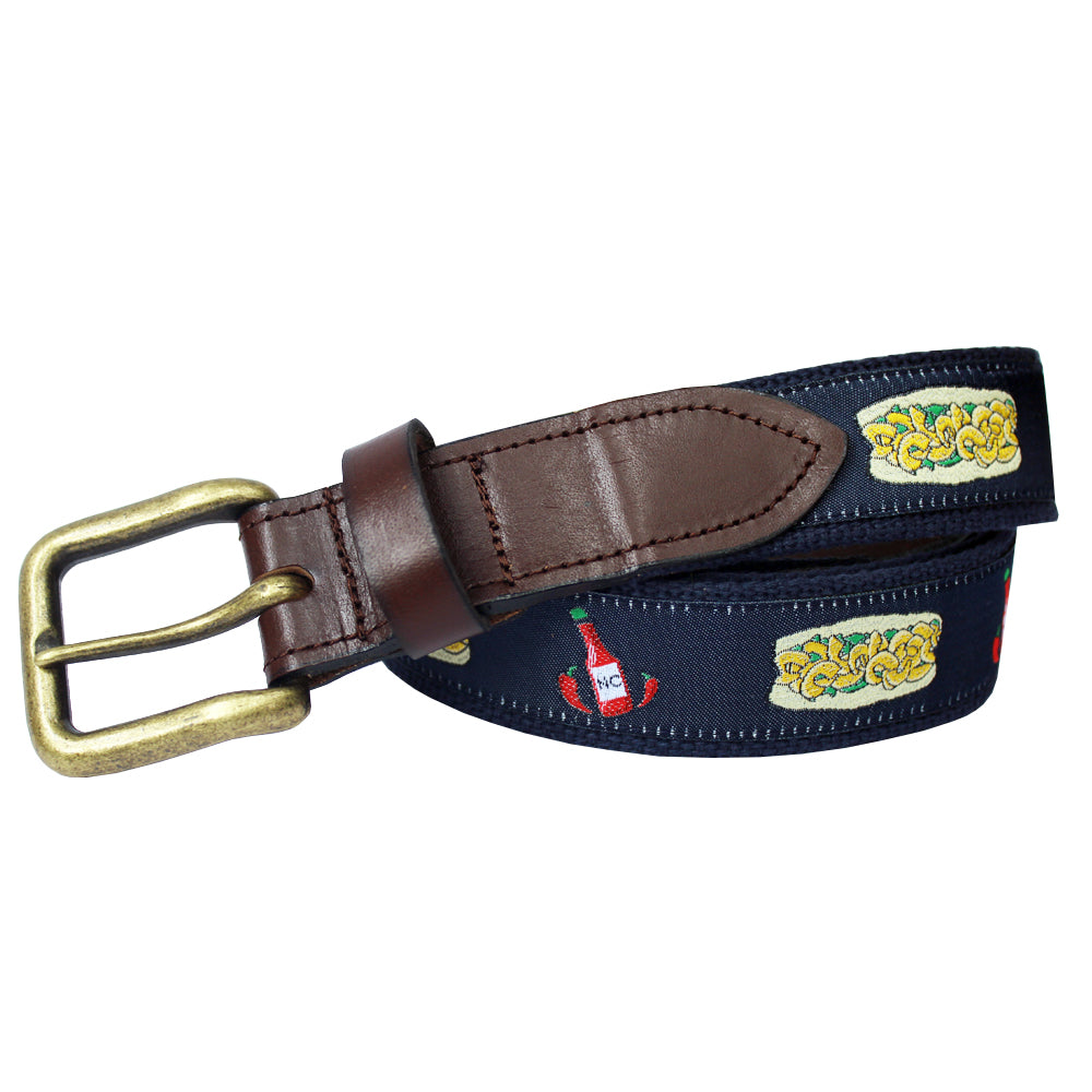 Midnight Navy Po Boy Club Belt