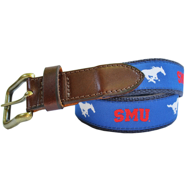 Blue SMU Mustang Club Belt