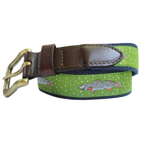 Mossy Green Speckled Trout Club Belt