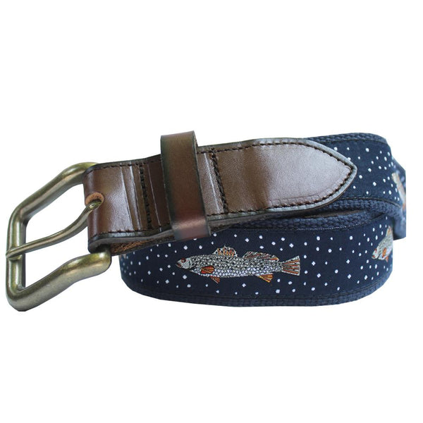 Midnight Navy Speckled Trout Club Belt