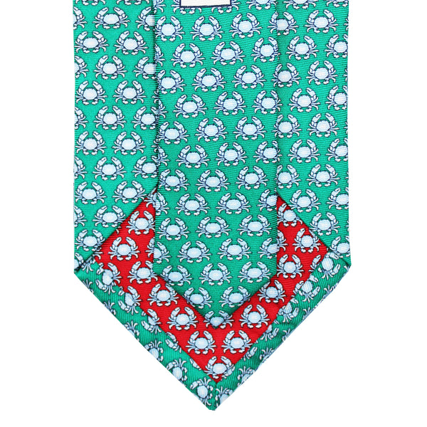 Audubon Green Boiled Crab Extra Long Tie