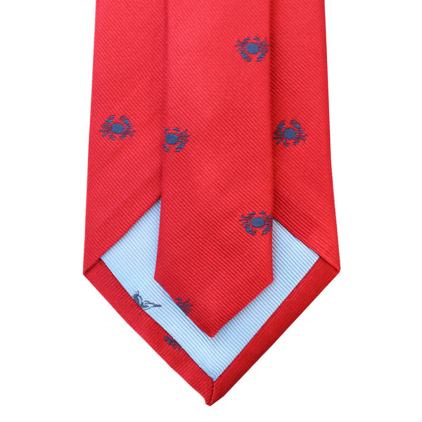 Boiled Crab Woven Silk Tie